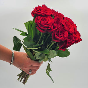 Flowers Bunch of Red Roses - mabrook.me