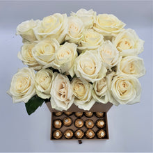 Load image into Gallery viewer, Tall Box of Roses with Drawer of Chocolates - mabrook.me