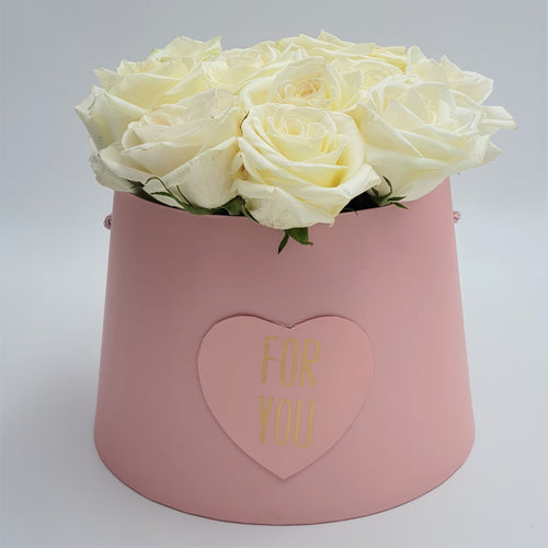 For You Round Box of Roses - mabrook.me