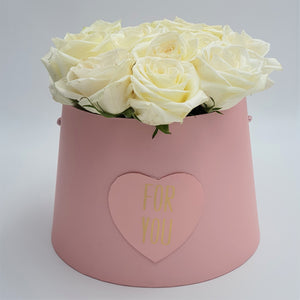 Flowers For You Round Box of Roses - mabrook.me