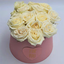Load image into Gallery viewer, Flowers For You Round Box of Roses - mabrook.me