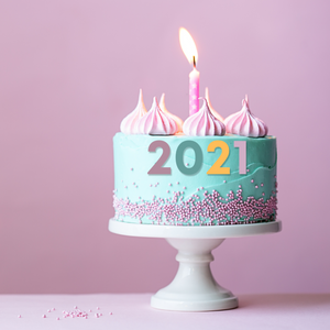 Cake The Colors of Joy - Welcome 2021 Cake - mabrook.me