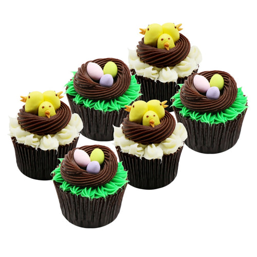 Cupcakes Chicks and Eggs - Easter Cupcakes - mabrook.me