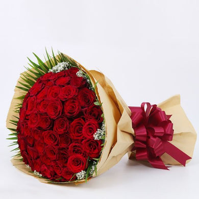 Flowers Bouquet of Long Stem Red Roses - mabrook.me