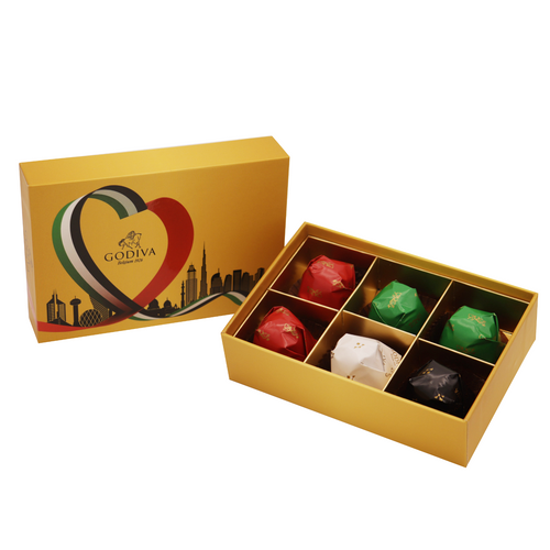 National Day Gold Rigid 6 pcs by Godiva - mabrook.me