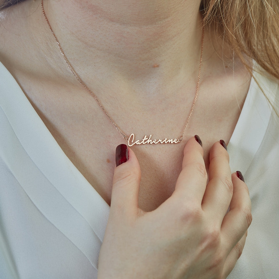 Jewelry English Name Cut Necklace - mabrook.me