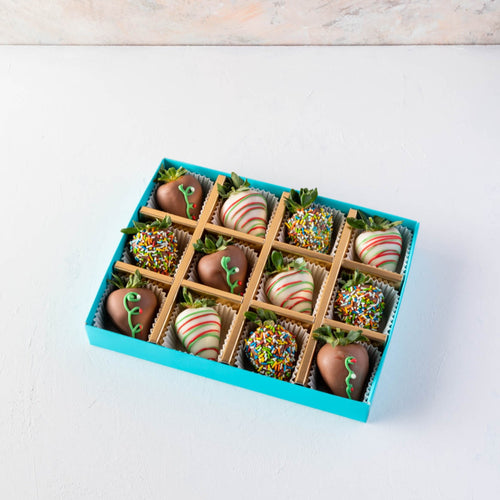 Strawberries 12 Pcs Christmas Chocolate Strawberries by NJD - mabrook.me