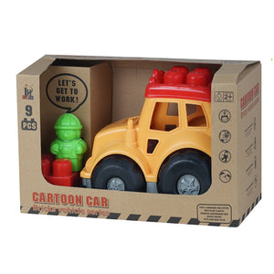 Eco Friendly Cartoon Car Bricks Vehicle - mabrook.me