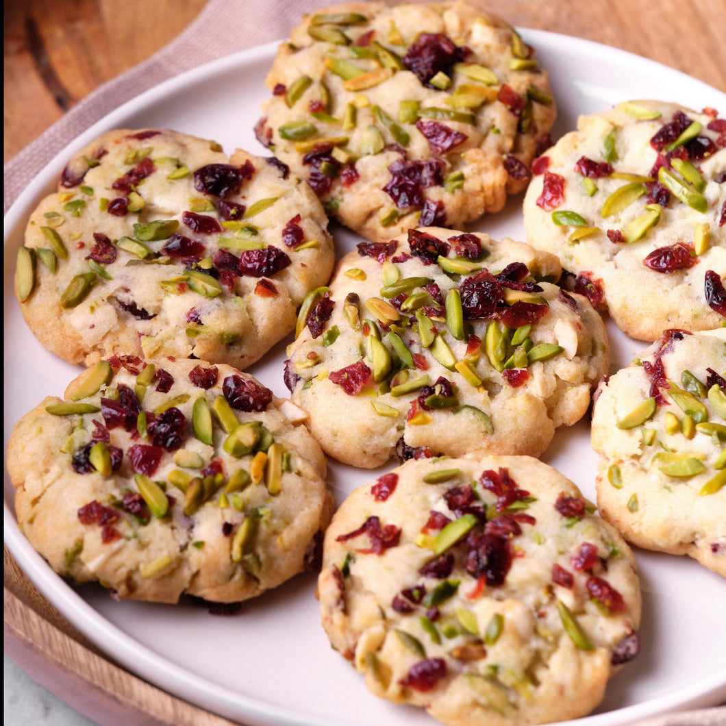 Cookies Cranberry Pistachio White Chocolate - Box of 6 - mabrook.me