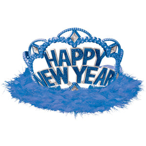 Accessories Happy New Year Electroplated Tiara - Blue - mabrook.me