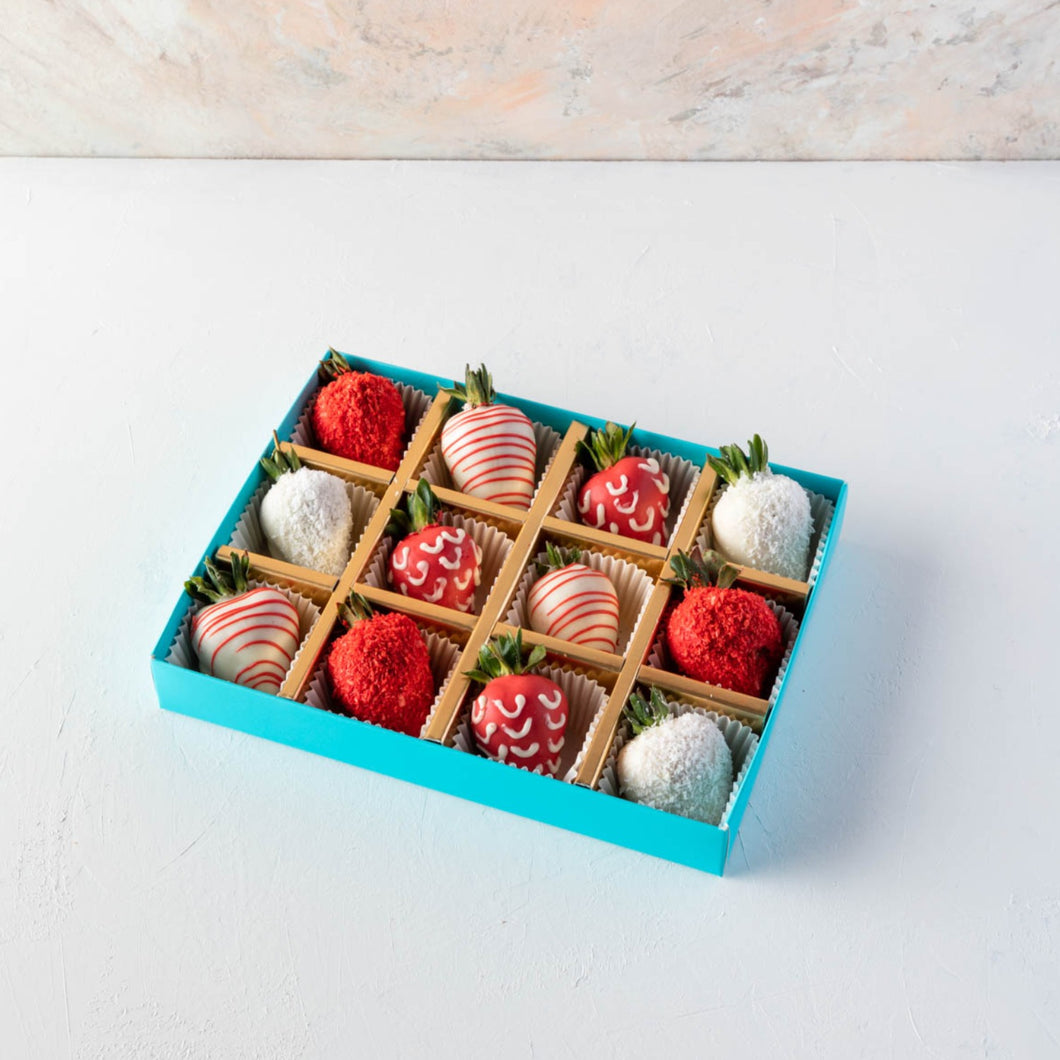 Strawberries 12 Pcs Red and White Strawberries by NJD - mabrook.me