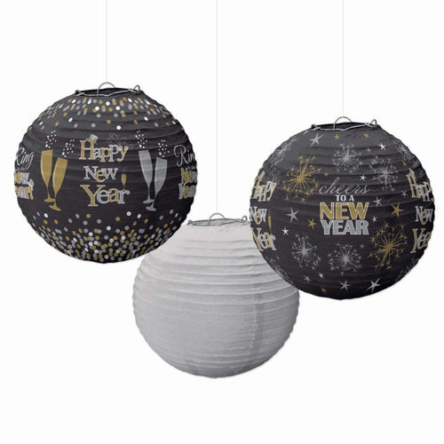 Decor Happy New Year Printed Lanterns - 3pcs - mabrook.me