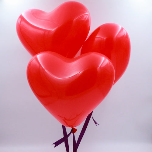Balloons Helium Filled Heart Shaped Balloons - Set of 3 - mabrook.me