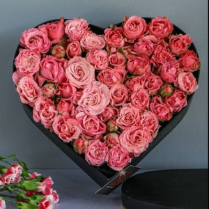 Flowers Pink Roses Heart - mabrook.me