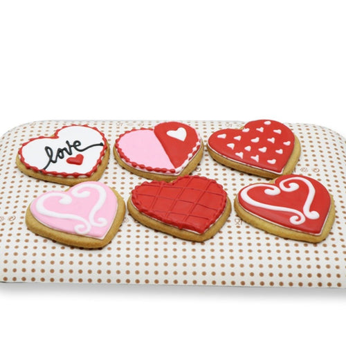 Cookies The Cookie Hearts - 6 Pcs - mabrook.me