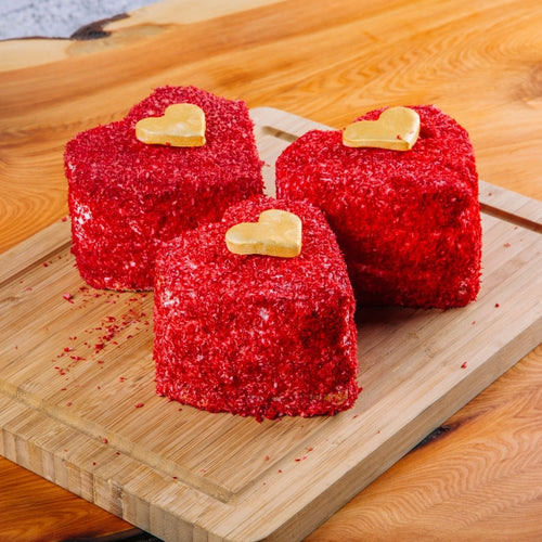 Cake Red Velvet Hearts - Set of 3 Mono Cakes - mabrook.me