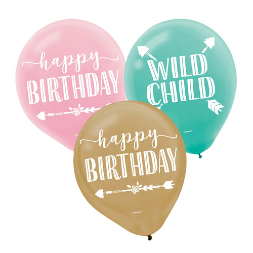 Decor Boho Birthday Girl Latex Balloons - mabrook.me