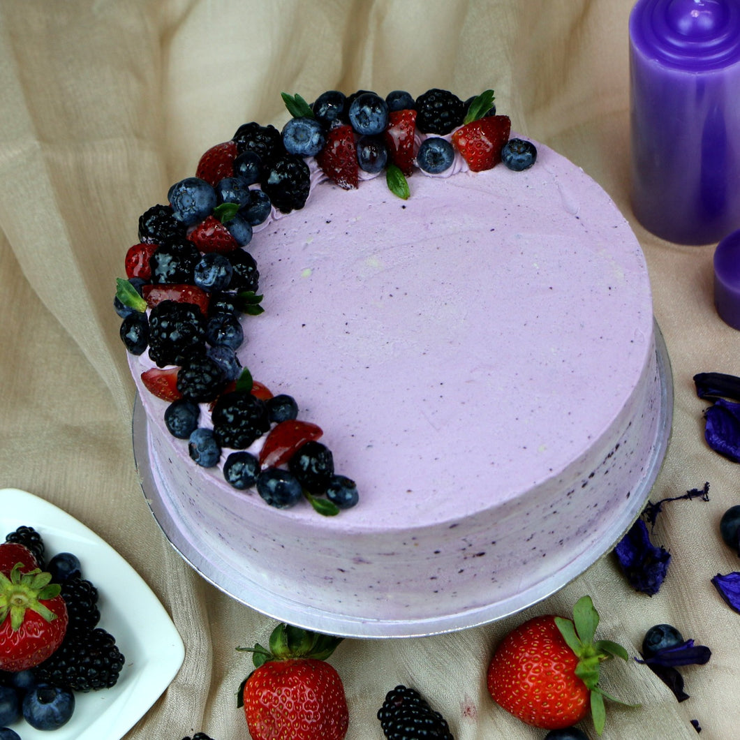 Vanilla Blueberry Cake - mabrook.me
