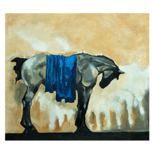Load image into Gallery viewer, The Horse - Framed Print on Canvas (Print of Original Painting) - mabrook.me