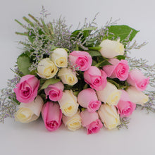 Load image into Gallery viewer, Bunch of Pink & White Roses - mabrook.me