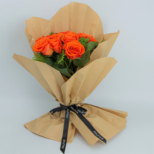 Bouquet of Orange Roses - mabrook.me