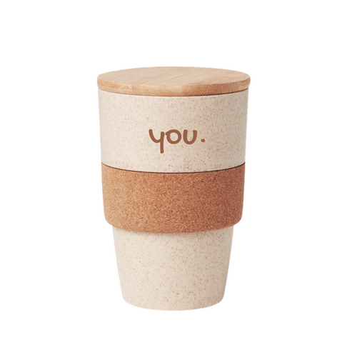 Tumbler with Cork Grip and Bamboo Lid - mabrook.me