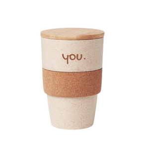 Gift Tumbler with Cork Grip and Bamboo Lid - mabrook.me