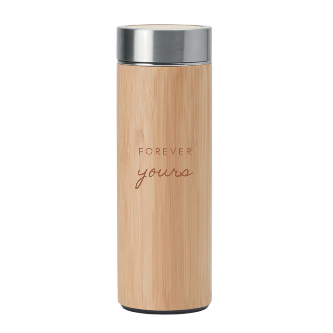 Gift Bamboo Vacuum Flask - mabrook.me