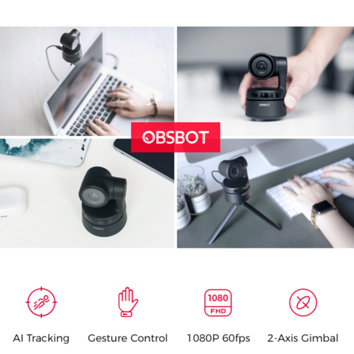 Camera OBSBOT Tiny: AI-Powered PTZ Webcam + Free OBSBOT Tripod - mabrook.me