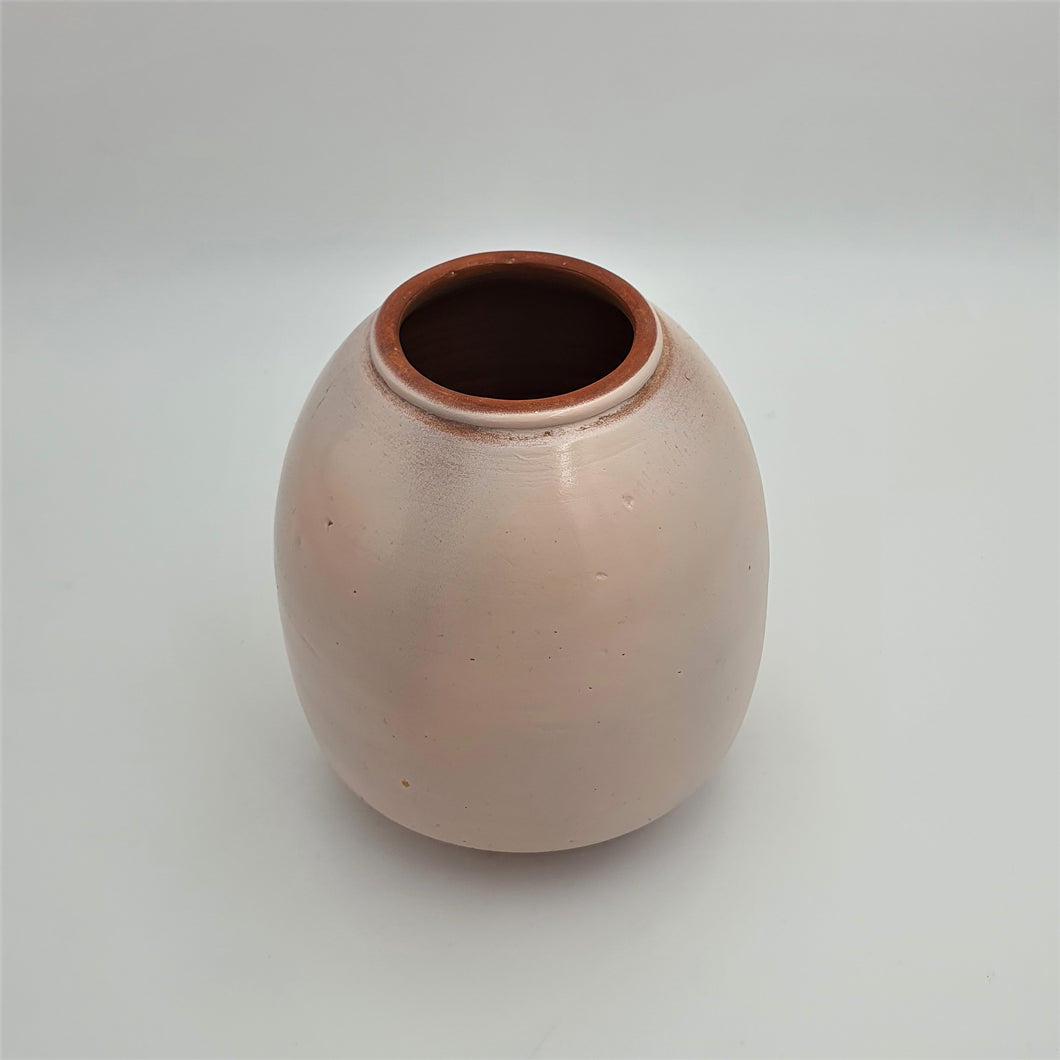 Rustic Pink Painted Terracotta Vase - mabrook.me