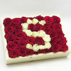 Flowers Initialed For Life - Roses In A Box - mabrook.me