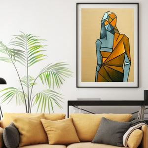 Painting The Shape of You - Framed Print on Canvas (Print of Original Painting) - mabrook.me