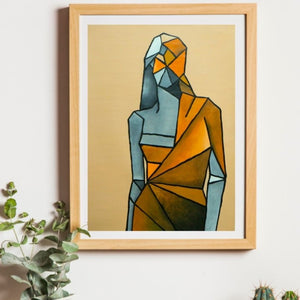 The Shape of You - Framed Print on Canvas (Print of Original Painting) - mabrook.me
