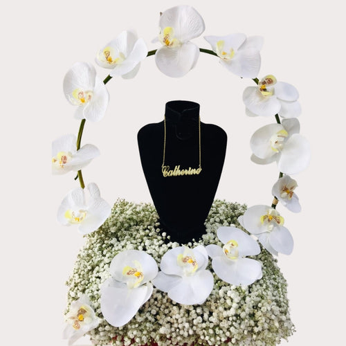 Flowers Orchids and a Necklace - A Perfect Pair - mabrook.me