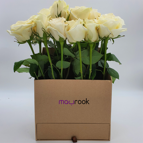 Flowers Tall Box of Roses with Drawer of Chocolates - mabrook.me