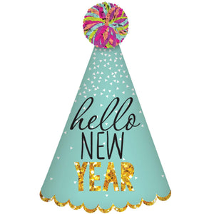 Accessories Hello New Year Glitter Multi Cone Hat - mabrook.me