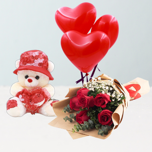 Flowers Love is Cute Combo - mabrook.me