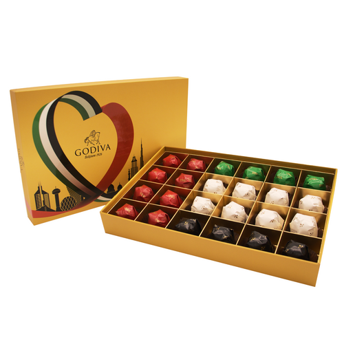 National Day Gold Rigid 24pcs by Godiva - mabrook.me
