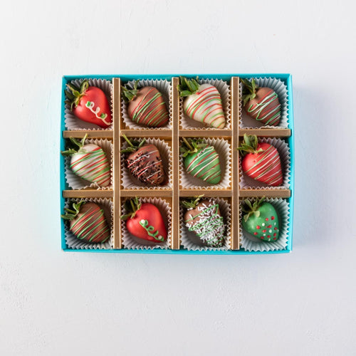 Strawberries 12 Pcs Christmas Strawberries by NJD - mabrook.me