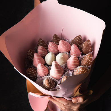Chocolates Pink Bouquet of Chocolate Strawberries by NJD - mabrook.me