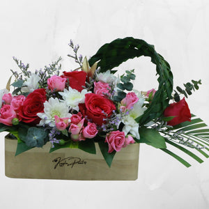 Flowers Our Names in Wood - Personalized Name Engraved Flowers Arrangement - mabrook.me