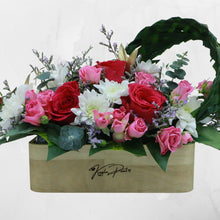 Load image into Gallery viewer, Flowers Our Names in Wood - Personalized Name Engraved Flowers Arrangement - mabrook.me