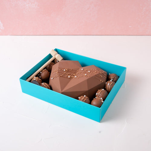 Chocolates Diamond Heart & Truffles Delight - mabrook.me