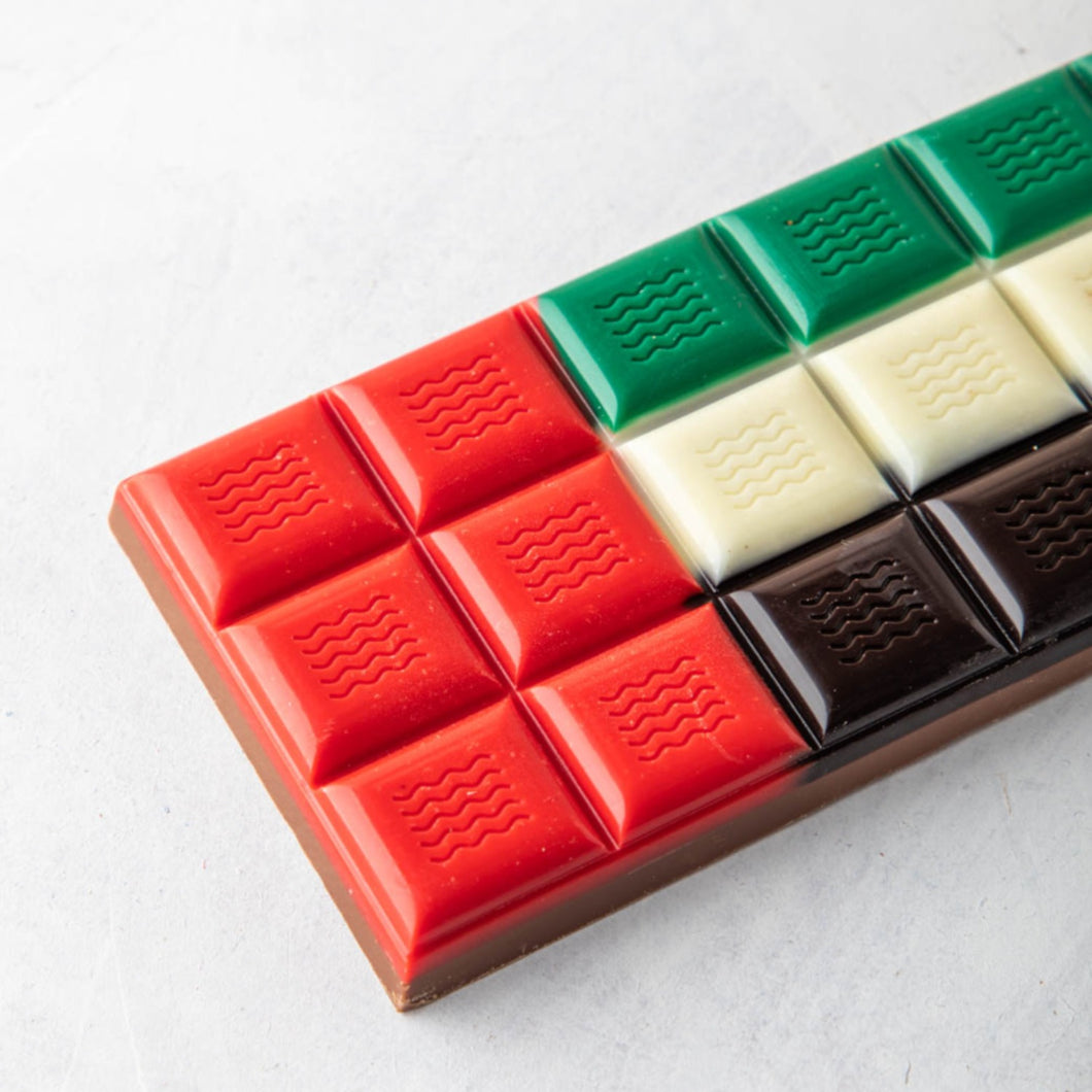 Chocolates UAE Flag Chocolate Bar Pack of 2 or 4 - mabrook.me