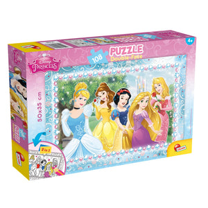Disney Princess 2 in 1 Jigsaw Puzzles - 108 Pieces - mabrook.me