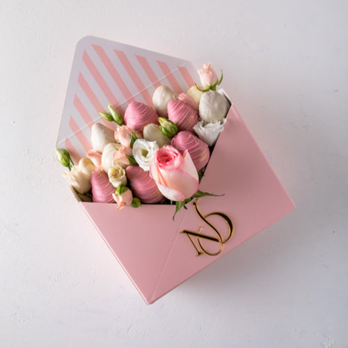 Chocolates Letter of Roses and Strawberries - mabrook.me