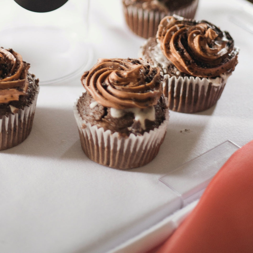 Chocolate Hazelnut Cupcakes - mabrook.me