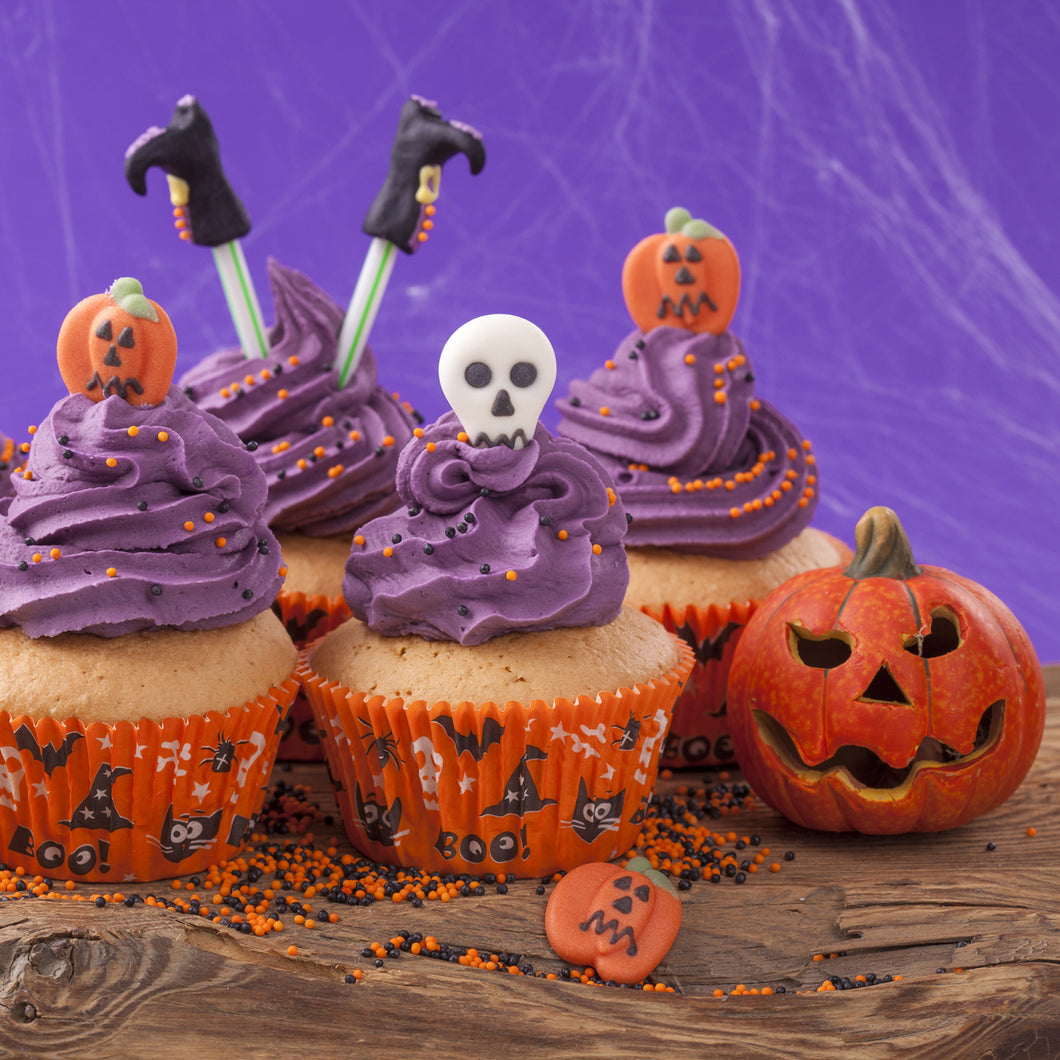 Purple Assorted Halloween Themed Cupcakes - mabrook.me