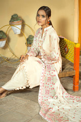 Floral Embroidered Suit (3-Piece)