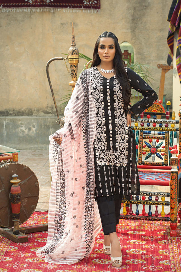 Cross Stitch Embroidered Suit (3-Piece)